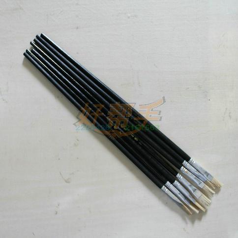 平4号油画笔/黑杆25支/合