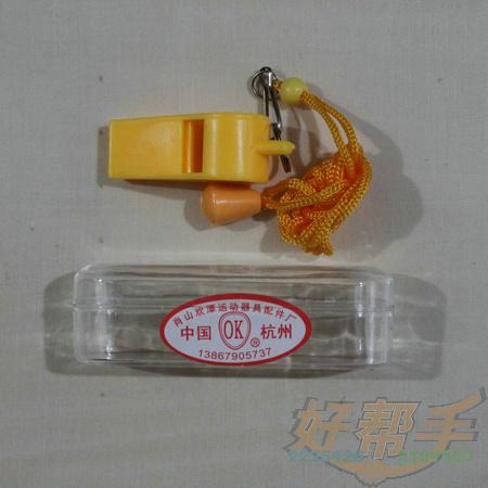 OK哨子黄色塑料/40合*10个/合