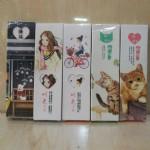 时光女孩造型盒装纸书签SQ-17008/25合/盒