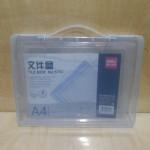 得力透明文件盒/5702/12个合/