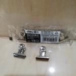 得力圆形铁夹9526/19MM/24包*6个/包