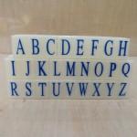 亚信组合字母印003/S-1/5套/条