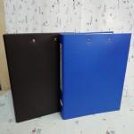 红杰纸板文件夹长短夹H334/蓝/黑/拆分18个/件