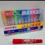 帝马彩色大双头记号笔DM-150彩色/12支/排