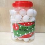 二丁鱼白色乒乓球8801/60个/筒