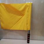 不锈钢发令旗/黄色