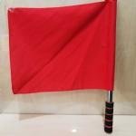 不锈钢发令旗/红色