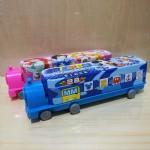 天乐三层小火车铁笔盒C-8039/12个/盒