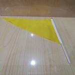 小三角旗/黄色/带胶管/100面/包