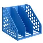 齐心三格资料架/蓝色/B2021/16个/件