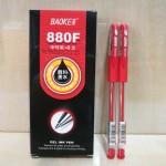宝克880F中性笔/红色/0.5MM/12支