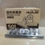 华杰HJ7388/50mm山形铁票夹/6个*6排*40盒/件