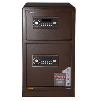 齐心电子密码保管箱BGX-2078S/棕色/975号