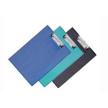 齐心双折板夹TR19蓝