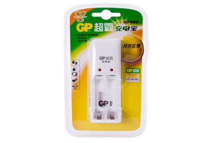 GP超霸雷火官网下载器GPKB02GW-2IL1/可充2粒