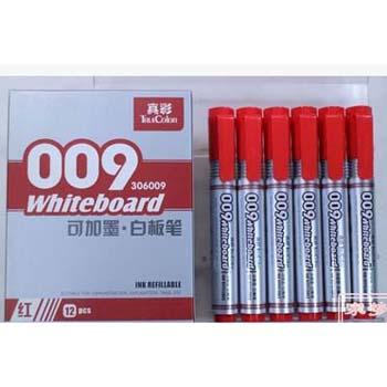 真彩009可加墨白板笔306009红色/12支