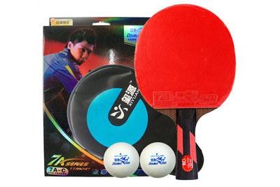 双鱼乒乓球拍7A-E短柄/双反胶