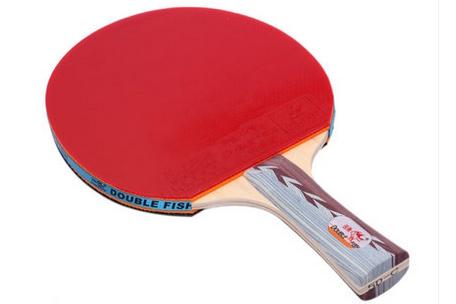 双鱼乒乓球拍5D-E短柄/双反胶
