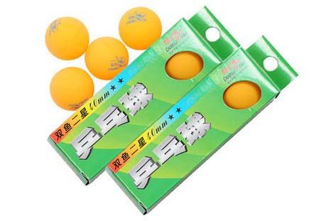 正双鱼二星乒乓球/橙色/3个/条