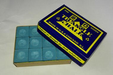 三角牌蓝盒桌球巧粉/12个/盒