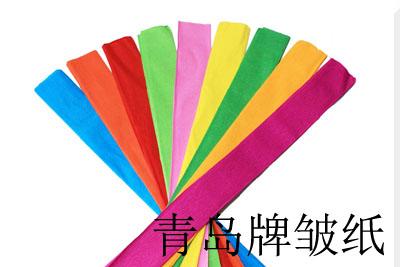 青岛海王牌皱纸/啡色/100张/件/826号