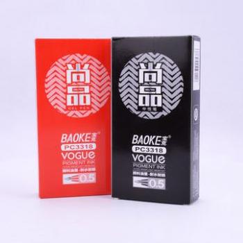宝克中性笔/红色/0.5/PC3318/12支/盒